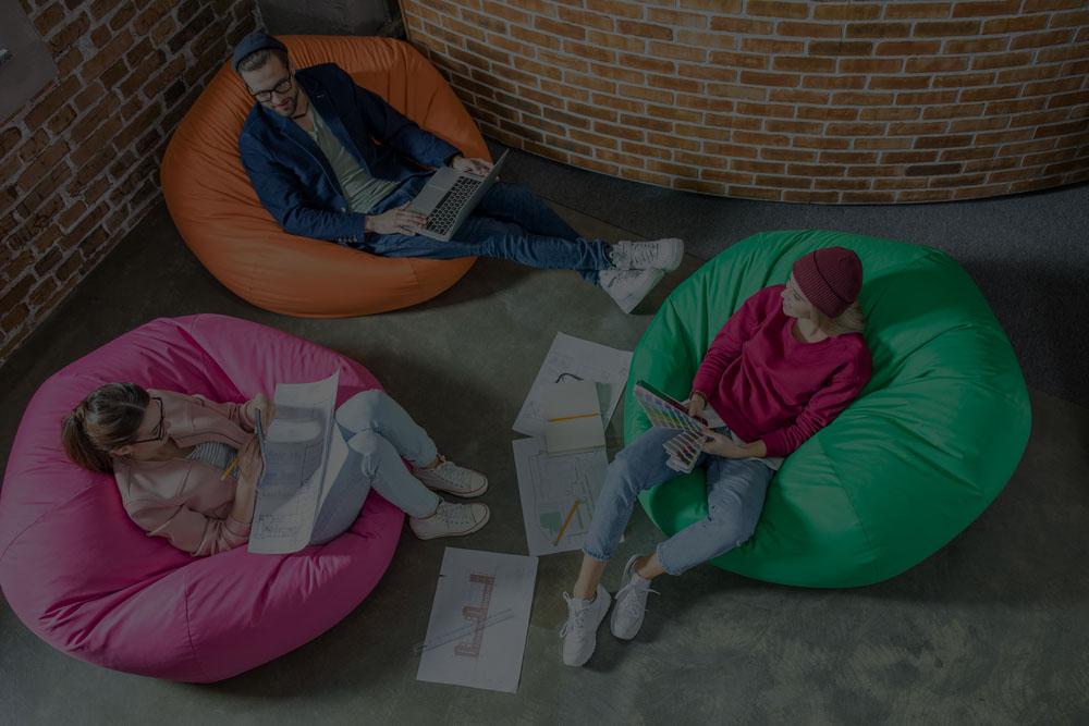 Agile Bean Bags Corner at Design city festival