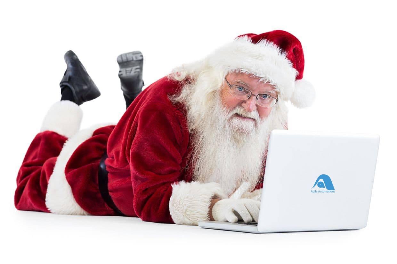 Santa using Agile Automations Computer